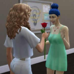 In My Sims World Of Only Women, Marge Simpson Is Married To Taylor Swift