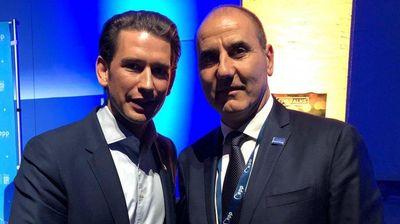 Цветан Цветанов на четири очи с канцлера на Австрия Себастиян Курц