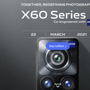Vivo X60 серијата пристигнува на глобалниот пазар на 22. март
