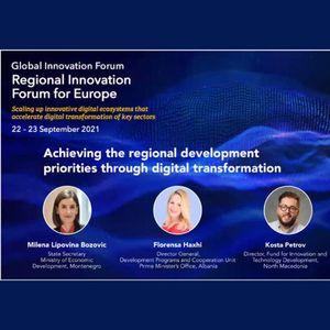 Петров на 2021 ITU Regional Innovation Forum for Europe: Забрзано работиме на трансформација на македонскиот стартап еко систем