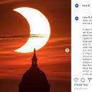 Несекојдневен феномен: Делумно затемнување на сонцето денес можеше да се види на небото