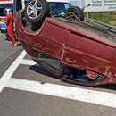 LANČANI SUDAR KOD ORLOVAČE! Učestvovala tri automobila, jedno vozilo završilo na krovu!