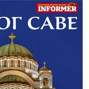 SAMO U VIKEND IZDANJU INFORMERA! Veliki poklon dodatak o Hramu Svetog Save na Vračaru! Podizanje kupole jedan od najvećih poduhvata graditelja hrama!