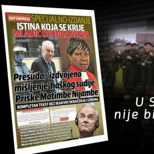 """NE PROPUSTITE! DANAS U INFORMERU - Specijalno izdanje """"Istina koja se krije! Mladić osuđen nevin""""! /VIDEO/"""