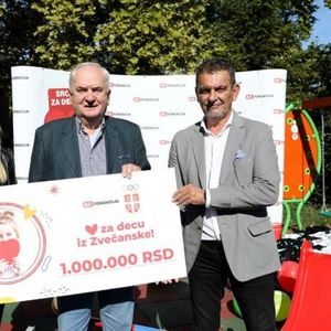 1.000.000 dinara mališanima iz Zvečanske na dar!