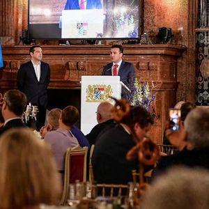 """Заев и Ципрас синоќа наградени со """"Еван Фон Клајст""""наградата"""