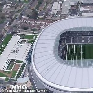 Три години градба на стадионот на Тотенхем собрани во две минути