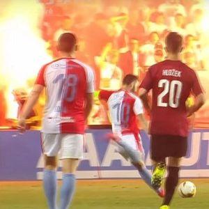 Навивачите го запалија стадионот на Славија