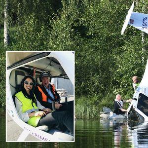 Норвешката државна секретарка во словенечки електричен авион падна во езеро