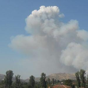 Голем пожар во близина на селото Таор