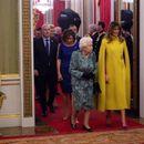 Сите на приемот кај кралицата Елизабета II гледаа во Меланија