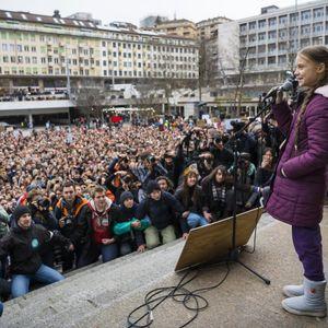 Пред Форумот на светските лидери во Давос , Грета собра илјадници на протест во Лозана