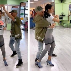 Георгина на Роналдо танцува салса во тесни хеланки