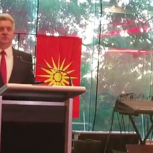Ѓорге Иванов евакуиран во Австралија, аларм му го  прекина со говорот