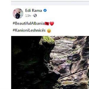 Рама на својата фан страница со фотографија од македонска Лешница ги фали убавините на Албанија