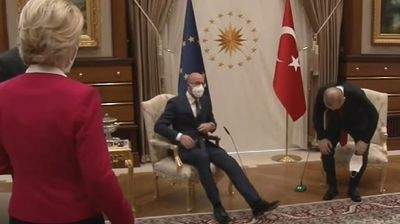 Ердоган ја понижи фон дер Лајен на состанокот во Анкара