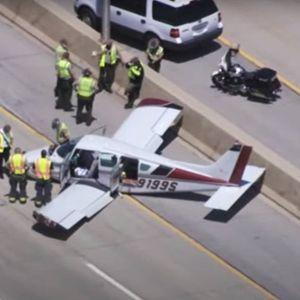 Мал авион слета на автопат во САД, четворица повредени