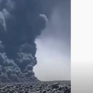 Во Кувајт се запали најголемата депонија за автомобилски гуми во светот