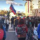 Голем протест во Љубљана, полицијата со водени топови и хеликоптер ги растерува демонстрантите