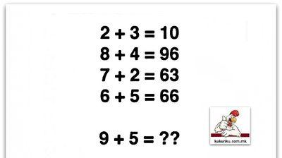 Дали можете да ја решите оваа математичка задача?