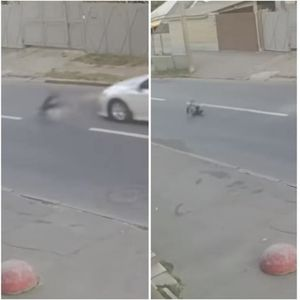 Дете претрча преку улица и го удри автомобил: Шокантно видео од Украина