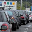 Колони возила- на Богородица и Табановце се чека половина час