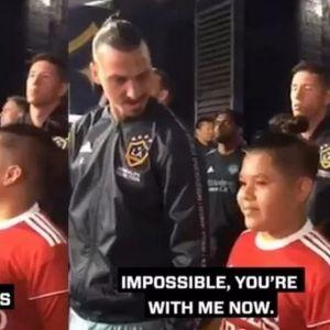 Малото момче беше вознемирено покрај Ибрахимовиќ, па фудбалерот покажа колку е голем човек