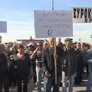 """Протест и почеток на штрајк на вработените во прилепски """"Еурокомпозит"""""""