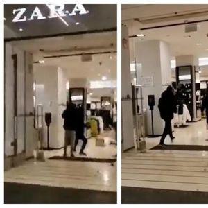 Десетици мигранти пробуваат да ограбат дуќан на Кнез Михаилова во Белград