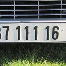 Првите регистарски таблици се воведени во Франција