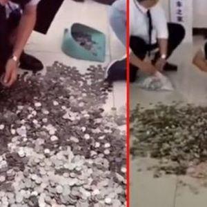 Кинеска купила автомобил од 24.500 евра со железни монети: Работниците три дена ги броеле парите