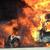 """Се запали камион """"Даф"""" со бугарски национални ознаки"""