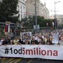 """Протестот """"1 на 5 милиони"""" во Белград заврши мирно"""