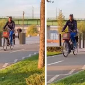 Новак и Јелена заедно со децата возеа велосипеди во Белград