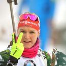 Германка взе преследването на 10 км в биатлона