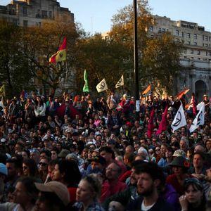 Говорот на младата Грета Тунберг на протест во Лондон