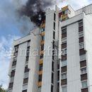 Пожар во зграда во Карпош 4