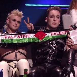Обезбедувањето им ги одзеде палестинските знамиња на претставниците на Исланд