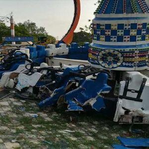 Несреќа во забавен парк: Се откачи реквизит со голем број луѓе, има и жртви