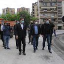 "(Видео) Богдановиќ, Шилегов и Заев на увид во градежните активности на улицата ""Орце Николов"""