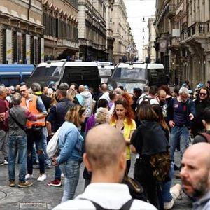 Неофашистите предизвикаа нереди во центарот на Рим, нападнати новинарски екипи