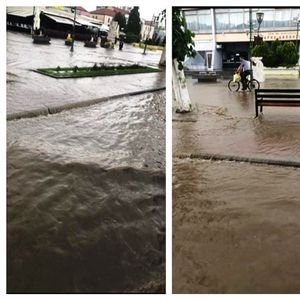 """Краткотраен дожд го """"однесе"""" новиот булевар во Прилеп: За ова ли се потрошија 1 милион евра?"""