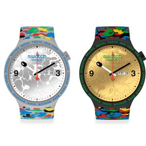 Swatch и BAPE= експлозија на бои и карактер