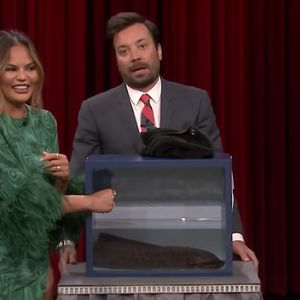 Chrissy Teigen and Jimmy Fallon guess mystery objects by touch, things escalate horribly