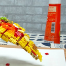 Please enjoy this satisfying video of a pizza created from Lego in stop motion