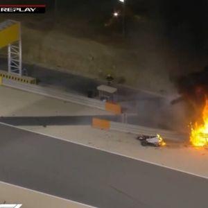 На Ф1 во Бахреин експлодира болидот на Грожан, Французинот преживеа