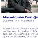 """Документарецот """"Македонскиот Дон Кихот"""" дел од фестивалот """"Балкан трафик"""" во Брисел"""