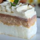 Торта со една бела кора и крем од ореви и чоколадо, многу вкусна, се топи во уста