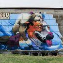 """Мурал во рамки на """"АКТО фестивал"""" на Домот на културата во скопската населба Ченто"""