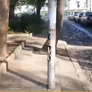 """""""Пълен абсурд"""": Стълбове със стърчащи жици до училище и детска площадка"""
